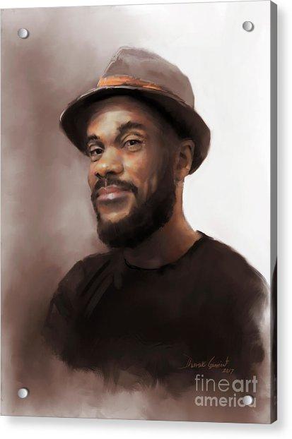Acrylic Print featuring the digital art Mr. Brooks by Dwayne Glapion