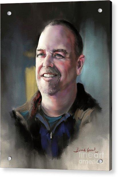 Acrylic Print featuring the digital art Mr. Mack by Dwayne Glapion