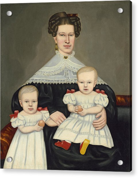 Mrs Paul Smith Palmer And Her Twins Acrylic Print