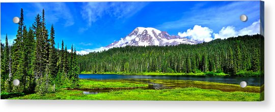 Mt. Rainier From Reflection Lakes Acrylic Print