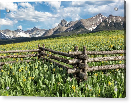 Mule's Ears And Mountains Acrylic Print