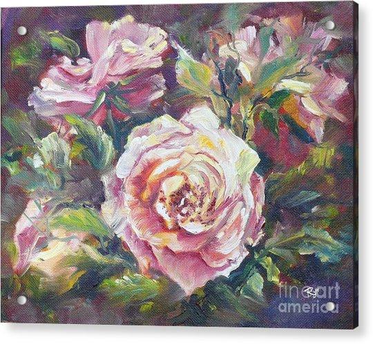 Multi-hue And Petal Rose. Acrylic Print