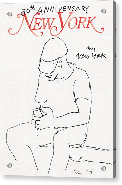Acrylic Print featuring the drawing My New York by Alex Katz