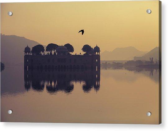 Mystic Jal Mahal, Jaipur, India Acrylic Print