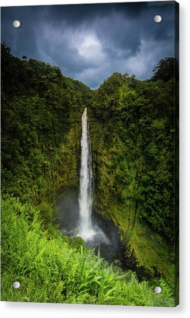 Acrylic Print featuring the photograph Mystic Waterfall by Break The Silhouette