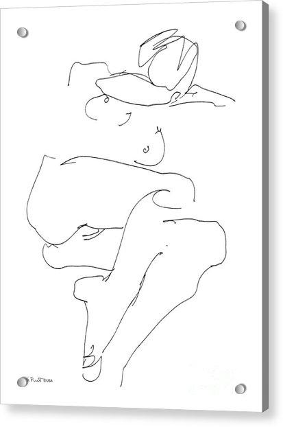 Naked-female-art-21 Acrylic Print