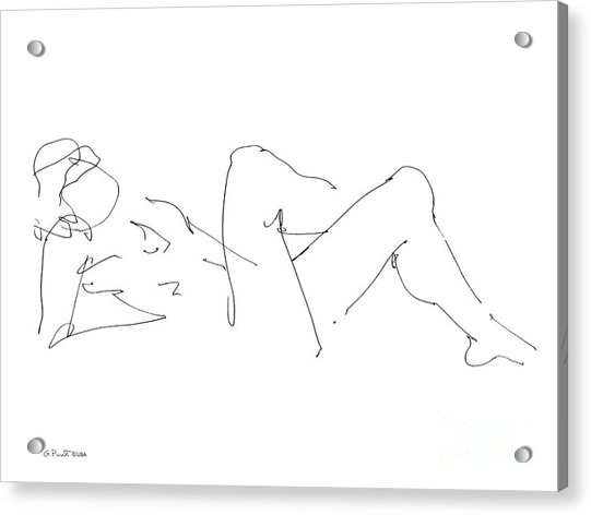 Naked-male-drawing-14 Acrylic Print
