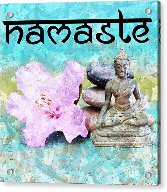 Namaste Buddha Acrylic Print