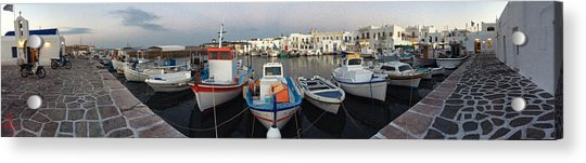 Acrylic Print featuring the photograph Naoussa Village Island Greece by Colette V Hera  Guggenheim
