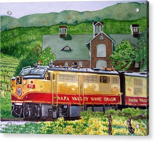 Napa Wine Train Acrylic Print