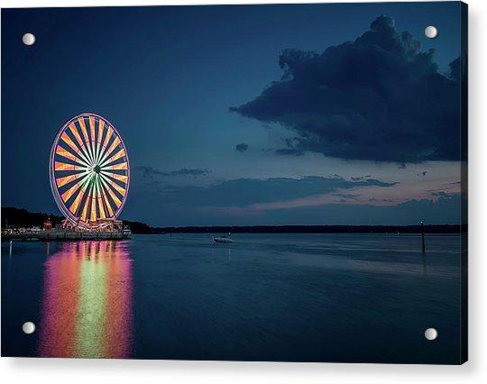National Harbor Ferris Wheel Acrylic Print