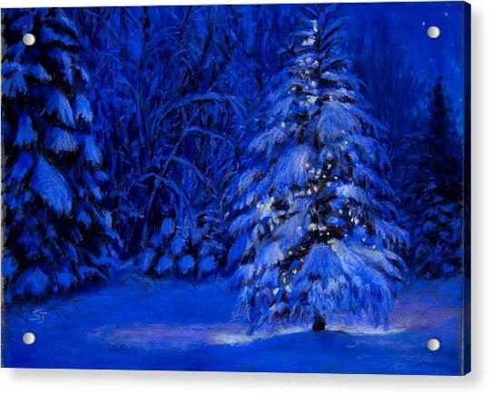 Natural Christmas Tree Acrylic Print