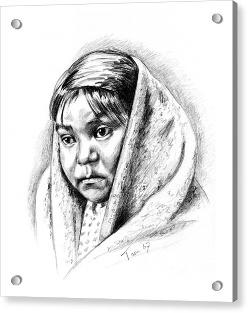 Navajo Child Acrylic Print