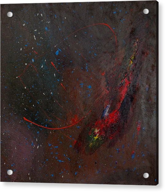 Acrylic Print featuring the painting Nebula by Michael Lucarelli