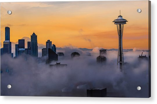 Acrylic Print featuring the photograph Needling The Fog by Kevin McClish