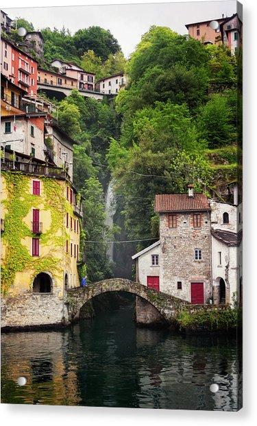 Nesso On Lake Como Italy Acrylic Print