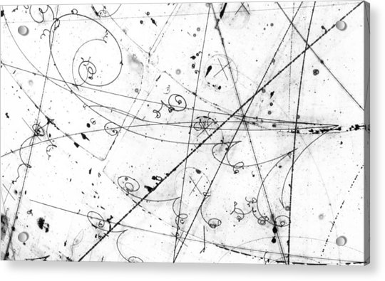 Neutrino Particle Interaction Event Acrylic Print