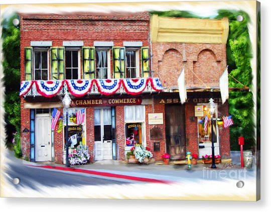 Nevada City Chamber Acrylic Print
