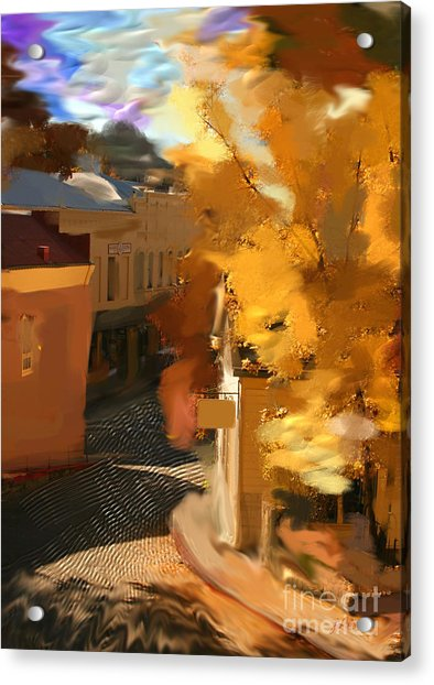 Nevada City In Fall Acrylic Print