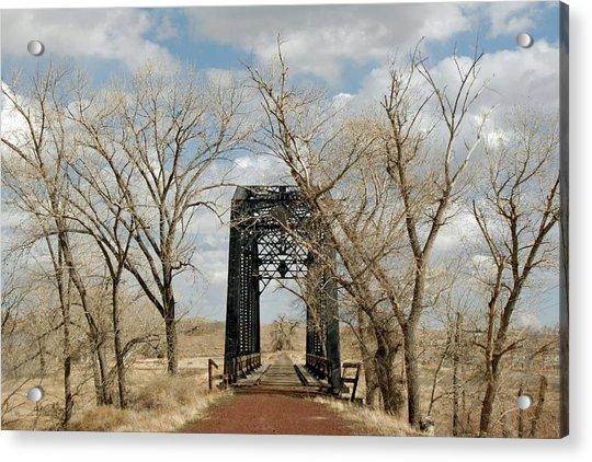 Nevada Railroad Bridge Acrylic Print