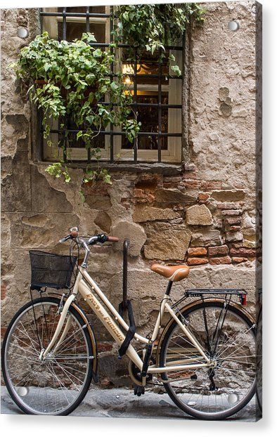 New Bike In Old Lucca Acrylic Print