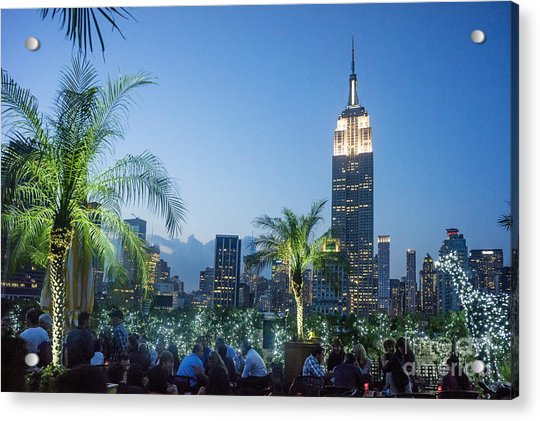 Acrylic Print featuring the photograph New York 230 Fith Rooftop Bar  by Juergen Held