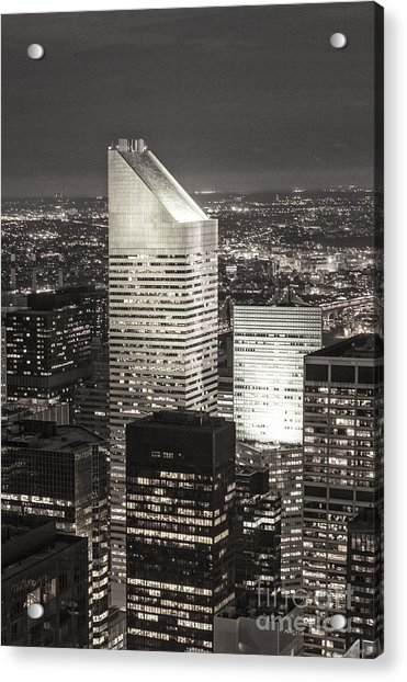 Acrylic Print featuring the photograph New York Citigroup Center  by Juergen Held