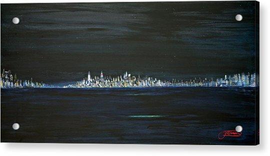 New York City Nights Acrylic Print
