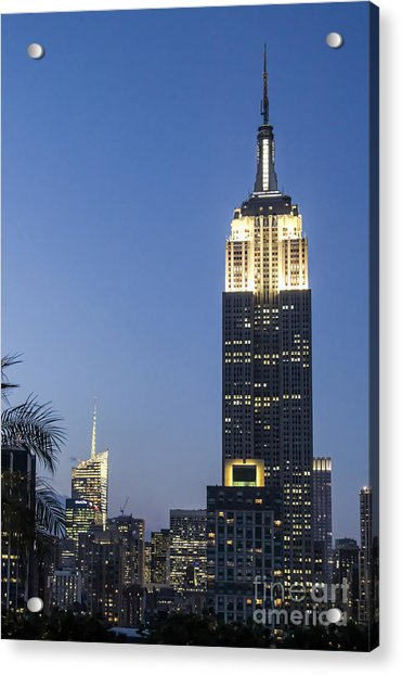 Acrylic Print featuring the photograph New York Empire State Building  by Juergen Held
