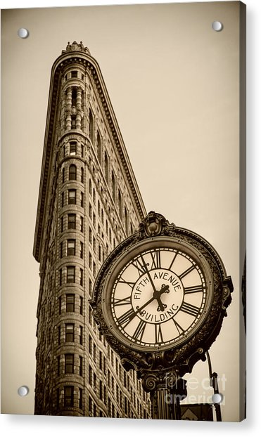 Acrylic Print featuring the photograph New York Flatiron by Juergen Held