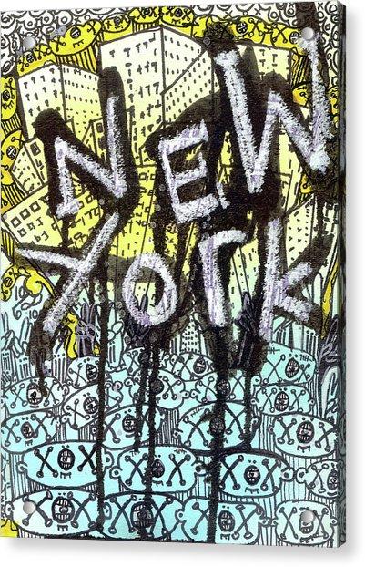 New York Graffiti Scene Acrylic Print