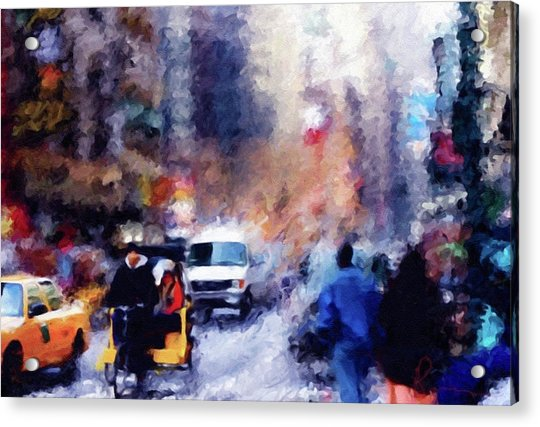 New York Hustle And Bustle Acrylic Print