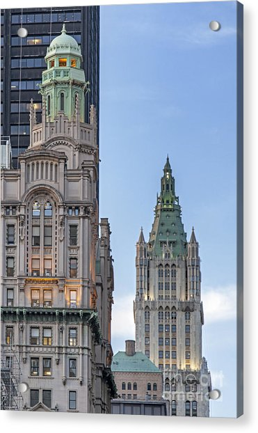 Acrylic Print featuring the photograph New York Woolworth Building  by Juergen Held