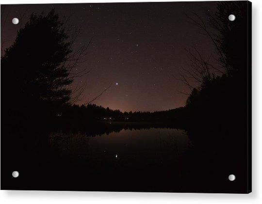 Night Sky Over The Pond Acrylic Print