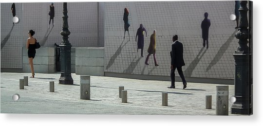 Nine Pedestrians At Place Vendome Acrylic Print