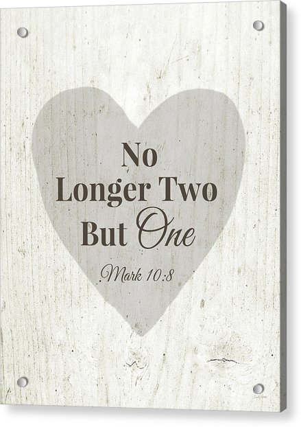 No Longer Two- Art By Linda Woods Acrylic Print
