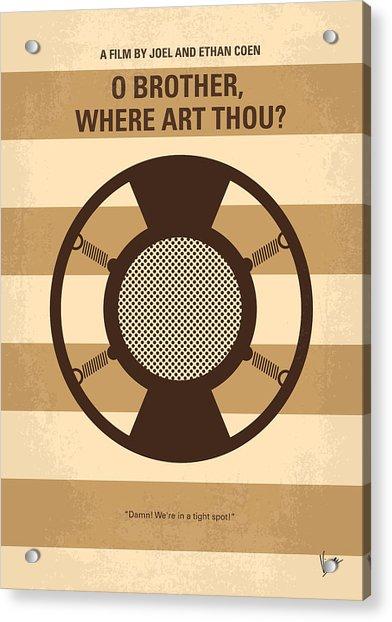 No055 My O Brother Where Art Thou Minimal Movie Poster Acrylic Print