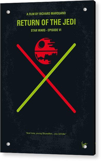 No156 My Star Wars Episode Vi Return Of The Jedi Minimal Movie Poster Acrylic Print
