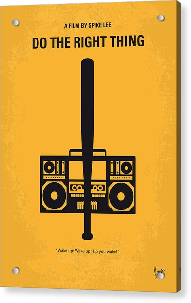 No179 My Do The Right Thing Minimal Movie Poster Acrylic Print