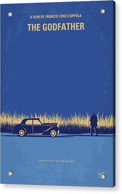 No686-1 My Godfather I Minimal Movie Poster Acrylic Print