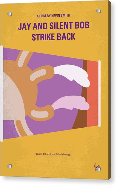 No889 My Jay And Silent Bob Strike Back Minimal Movie Poster Acrylic Print