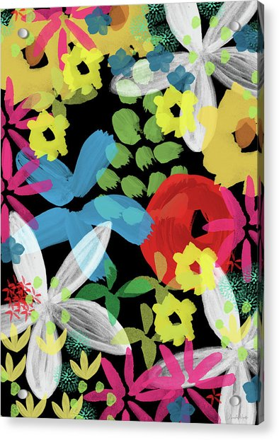 Nocturnal Garden- Art By Linda Woods Acrylic Print