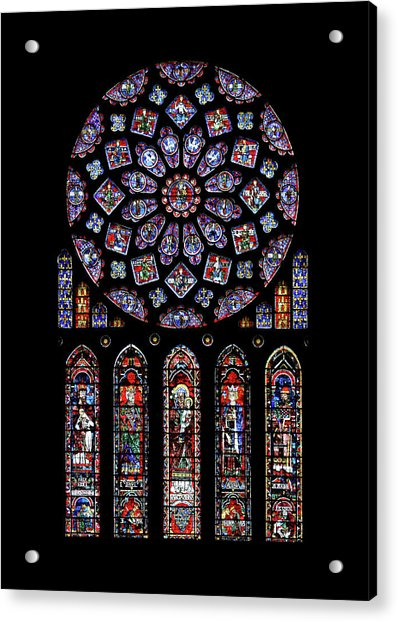 North Rose Window Of Chartres Cathedral Acrylic Print
