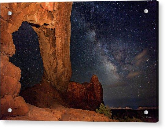 North Window And The Milky Way Acrylic Print