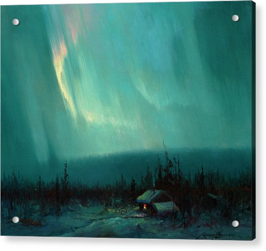 Northern Lights, Arctic Acrylic Print