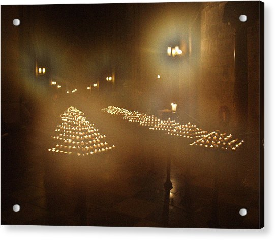 Notre Dame Candles Acrylic Print