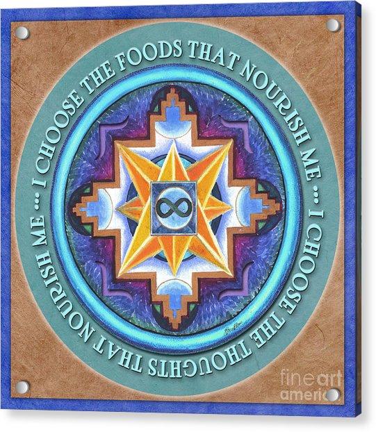 Nourish Mandala Prayer Acrylic Print
