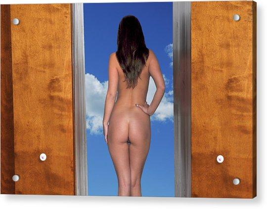 Nude Doorway Acrylic Print