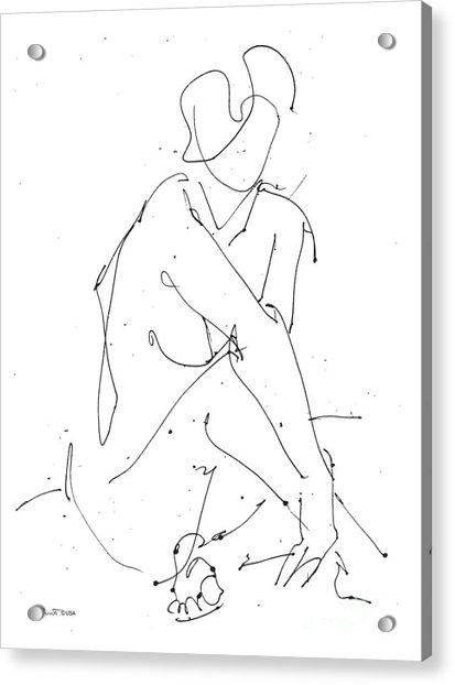 Nude-female-drawing-19 Acrylic Print