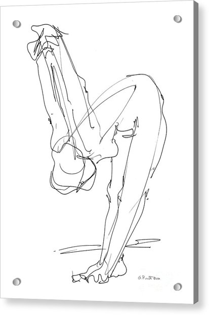 Nude Female Drawings 10 Acrylic Print